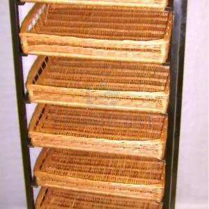 Store shelf 7 floors for basket 58x40xH10cm