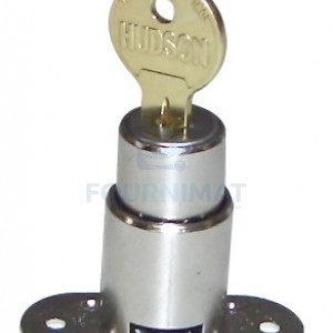 Stainless steel lock for cupboard provided with two keys