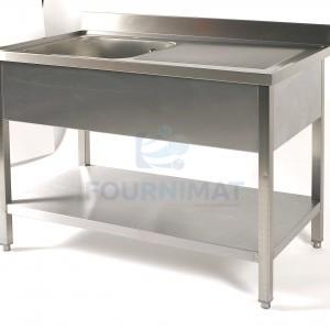 Stainless steel sink 1 sink + draining board bin