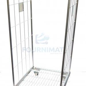 Stainless steel rack trolley hand welded opening 40