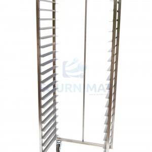 Stainless steel rack trolley hand welded opening 60