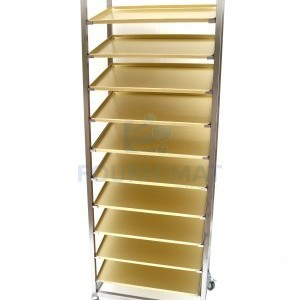 Stainless steel pastry rack for displaying