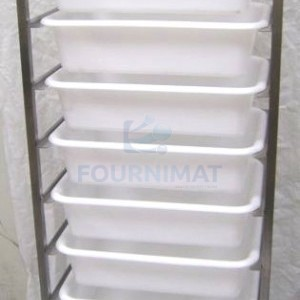 Stainless steel shelf for dough balls container included