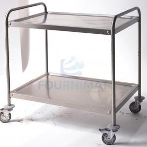Stainless steel trolley with undershelf
