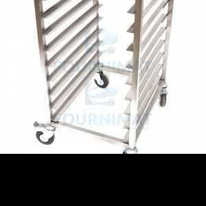 Stainless steel service trolley opening 40cm