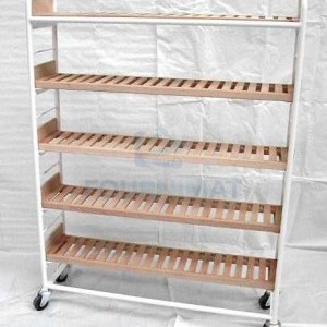 Shelf for tarts simple white with laths