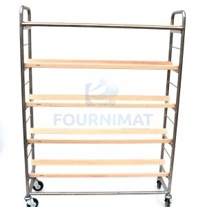 Shelf for loafs simple stainless steel with oblique laths