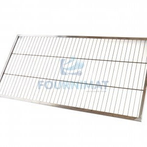 Stainless steel shelf for trolley