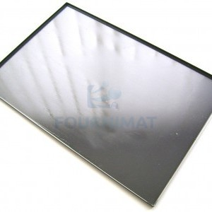 Black Baking tray, solid, 4 sided, side 90°