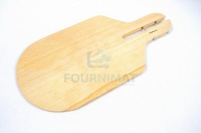 Pelle en bois demi ronde à enfourner
