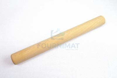 Wooden rolling pin without handles