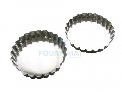 Tartlet with pleated edge