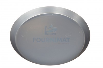 Pie dish with flared even edge in blue sheet metal, edge 3.5cm