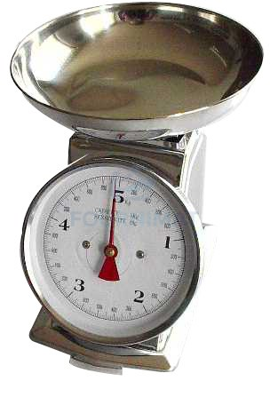Mechanical scales with pan