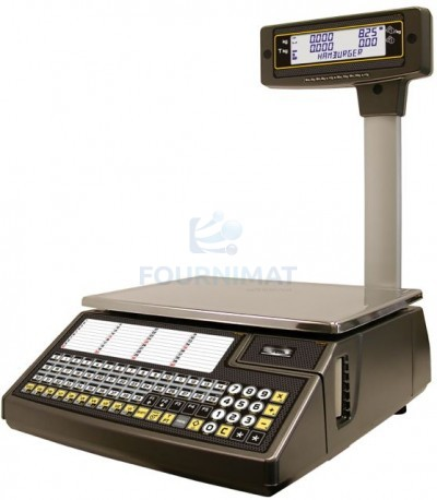 Electronic column scales with tickets or labels