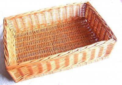 Wicker basket 40X58XH17 closed