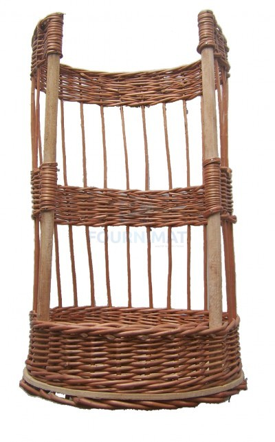 Round wicker basket for baguette