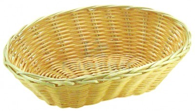 Oval wicker basket professional natural colour