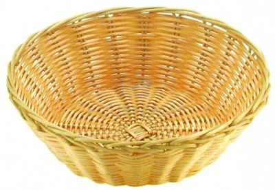 Round wicker basket professional natural colour