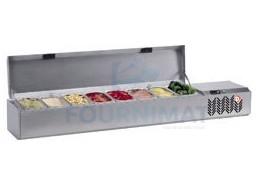 Saladète/structure frigorifique inox 5x bac1/4 non compris +2° à +10°