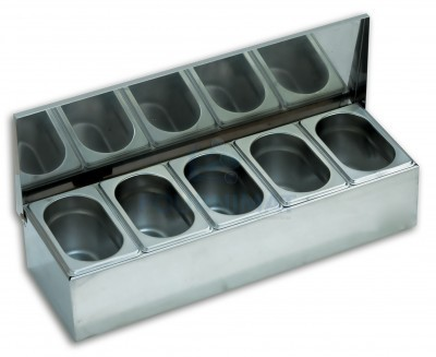 Condiment box 4 compartments ABS