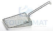 Stainless steel fries shovel double canvas