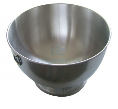 Pedestal semi-spherical bowl stainless steel
