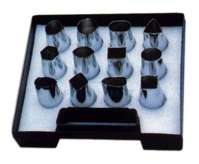 Set of 12 stainless steel sweet cutter