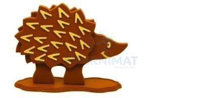Flexible chocolate mould a hedgehog