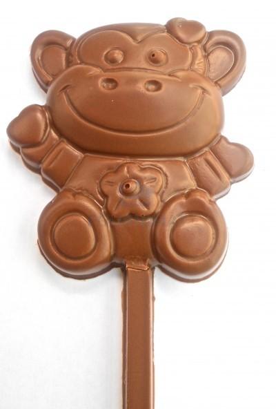 Flexible chocolate mould lollipops