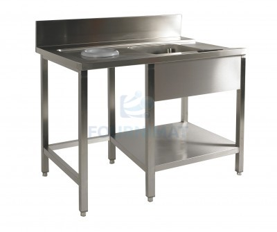 Stainless steel sink made-to-measure price on request