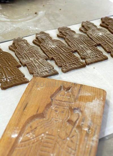 Speculoos mould Saint Nicholas +  Père Fouettard