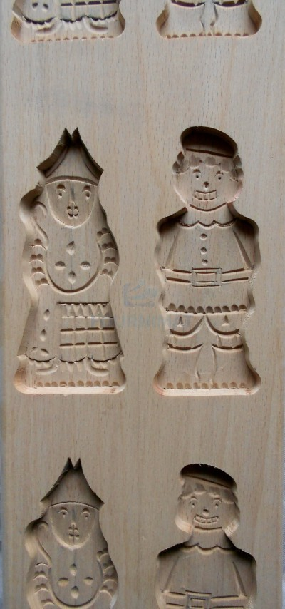 Speculoos mould 3x Saint Nicholas + 3x Père Fouettard 11cm high