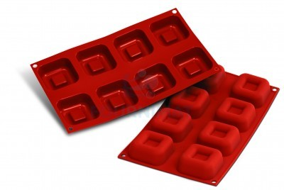 8 Savarins carrés 65mm 73ml