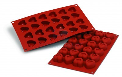 24 savarins hearts 37x36mm 16ml