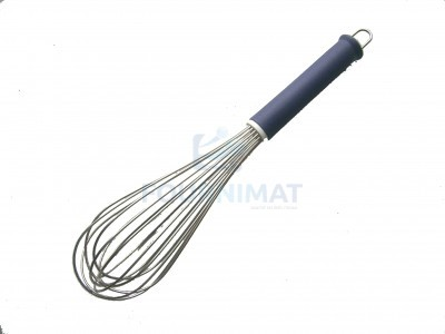 Whisk with stainless steel wires and polyamide handle
