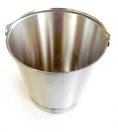 Graduated stainless steel bucket