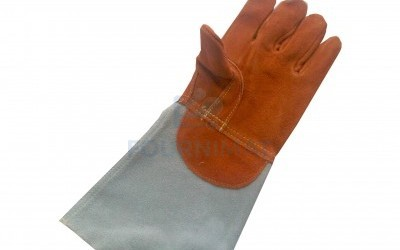 Long leather glove