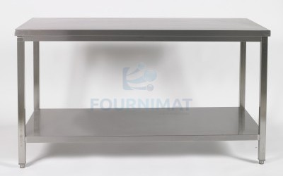 Stainless steel table with undershelf