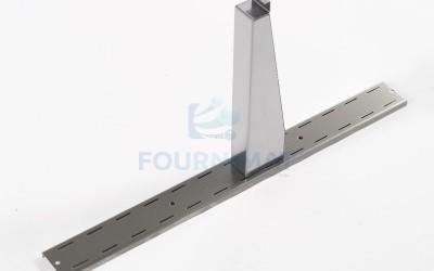 Porte tablette pour console réglable inox pour 11002601, 11002602, 11002603