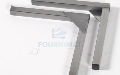 Cornière et porte tablette fixe en inox