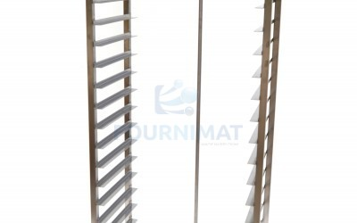 Stainless steel rack trolley hand welded opening 60