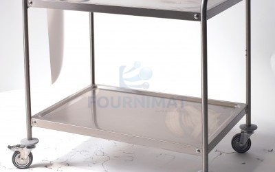 Stainless steel trolley with undershelf