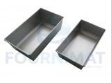 Rectangular aluminium loaf pan