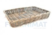 Grey wicker basket 58X40X10 closed
