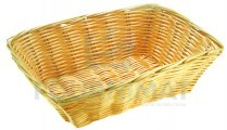 Rectangular wicker basket professional natural colour