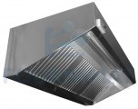 Stainless steel cooker hood wall built-in ventilator light included