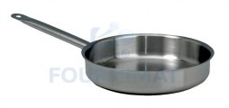 Conical stainless steel frying pan