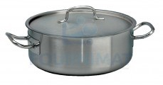 Stainless steel cooking pot all heat sources extra low lid included