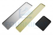 Plate in ionised aluminium coloured for counter